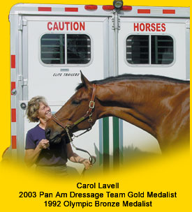 Carol Lavel endorses CAUTION HORSES Safety Products