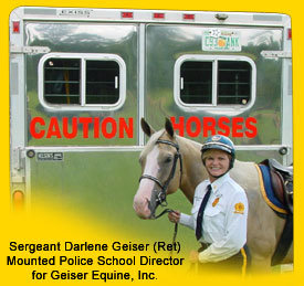 Terry & Darlee Geiser endorse CAUTION HORSES Safety Products.